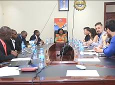 Ambassador Prof. Elizabeth Kiondo along with the investors from Turkey at a meeting with stakeholders from Tanzania.
