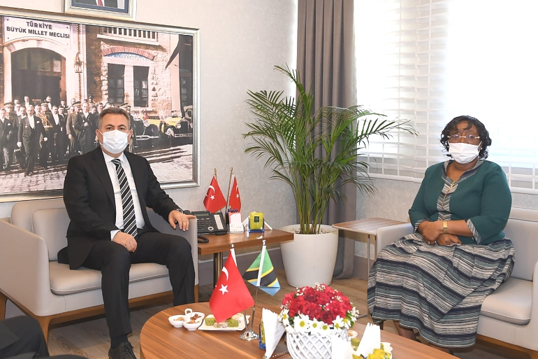 H.E Prof. Kiondo along with the Governor of Adana Mr. Suleyman Elban at Governor's Office.